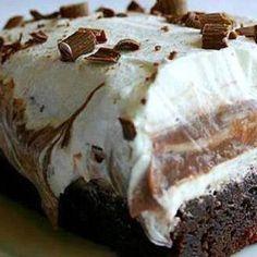 BROWNIE REFRIGERATOR CAKE Recipe 3 | Just A Pinch Recipes