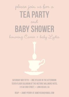 party decor - Tea Party Baby Shower at Minted.com