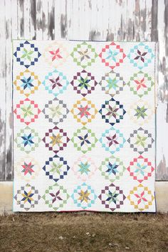 Spin the color wheel with the Kaleidoscope Quilt Kit! Kit includes Kaleidoscope pattern and Simply Color fabric, both by V & CO.