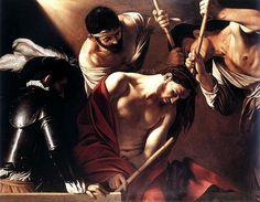 Die Dornenkrönung, öl von Caravaggio (Michelangelo Merisi) (1571-1610, Italy)