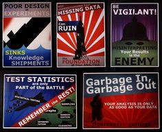 Statistics propaganda posters.