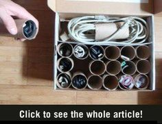 Good idea. I f-ing HATE our box of messy cords!