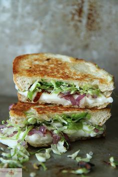 Brussels Sprouts Grilled Cheese. YUMMMMMMMMMMM <3