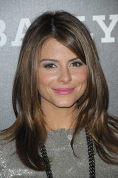 Maria Menounos long layered hairstyle with highlights