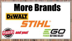 We have more brands added all the time! Come check out EGO!