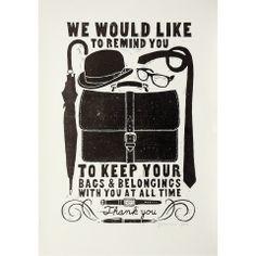 Keep your belongings...