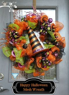 Lookie What I Did: Happy Halloween...My First Mesh Wreath + link to how to video