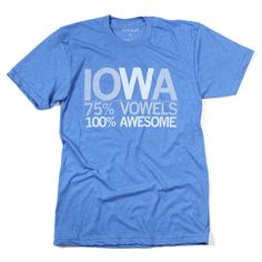 Iowa Vowels - Raygun shirts