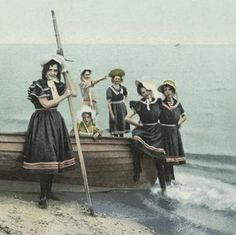 Ready for their Daily Dip (1903-1904).  Photography Collection.