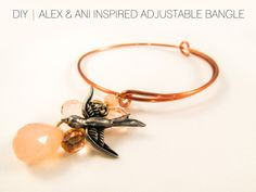 #DIY #Tutorial Alex & Ani Inspired Adjustable Bangle #jewelry #knockoff #diy_jewelry