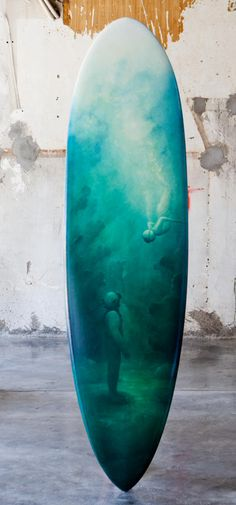 www.wavescape.com board surf art. Wow , what a fantastic artwork. Get your inlay printed with your own design at beautifulprints.com.au  #surfboard #design