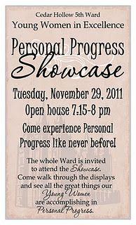 progress showcas, church, young women, ywie, lds young, youngwomen, women idea, person progress, excel idea