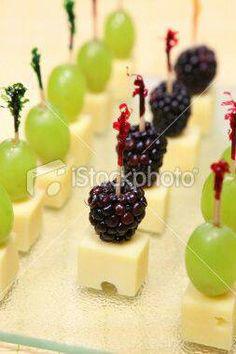 Fruit & cheese finger food @Naomi Francois DePugh bridal shower food