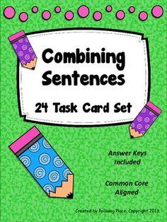 Combining Sentences - Task Cards ($)