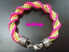 ▶ DIY: Pulsera kumihimo espiral (facil) - YouTube