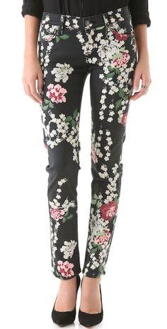 floral jeans <3