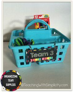 Super tips on organizing team supplies
