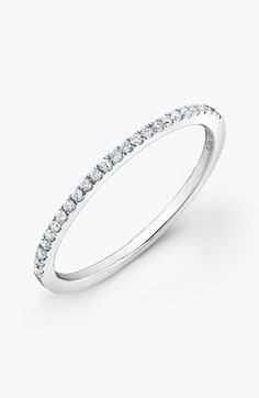 Bony Levy Stackable Diamond Ring (Nordstrom Exclusive) available at #Nordstrom
