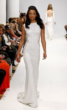 fashion weeks, runway fashion, white fashion, michael costello, nyc fashion, costello gown