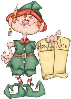 Naughty or Nice elf  .... i need to make a yard art piece out of this!