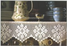 Filet Crochet Shelf-Edgings patterns with charts by Needleworks Butterfly