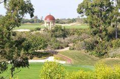 A view of the Pelican Hill Rotunda during a Babymoon at The Resort at Pelican Hill | www.pelicanhill.com