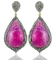 Pink Sapphire Drops earring