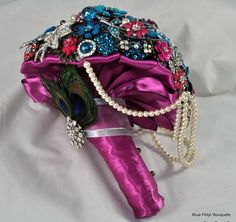 Cascading Brooch Bouquet by Blue Petyl #bridal #bouquet