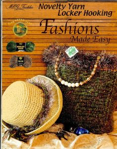 MCG Textiles novelty yarn locker hooking fashion made easy book