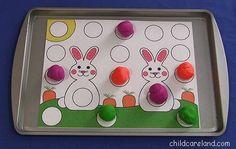 Bunny Playdough Mat ... great for fine motor development.