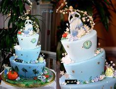 Topsy Turvy Cinderella cake!