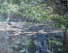 """Cherokee Park ~ 14x18~ oil on canvas"" - $400.00 Original Fine Art for Sale - © Vincenza Harrity"