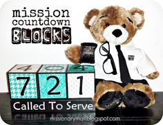 Mission Countdown Blocks at Missionary Mail. For when I will have missionary babies of mg own