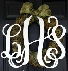 Medium Cut Out Wood Monogram ($40)