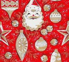 Vintage Gift Wrap Tree Trimmings by hmdavid, via Flickr