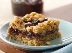Gluten Free Peanut Butter and Jam Cookie Bars