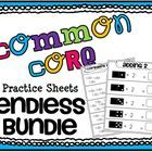 Common Core Math Practice Sheets ENDLESS BUNDLE 140+ practice sheets $