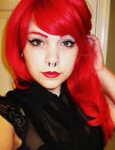 #septum #piercing #redhair #beauty #bodycandy
