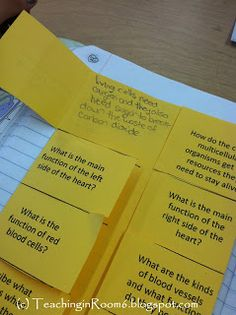 Answering Textbook Questions...Put the question on the outside of flap, and kids answer on the inside.