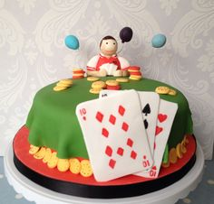 Poker Players Cake