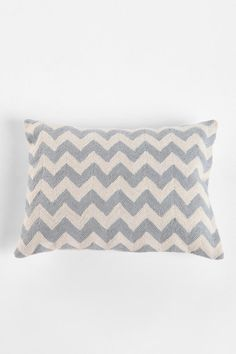 Crewel Embroidered Zigzag Pillow  #UrbanOutfitters