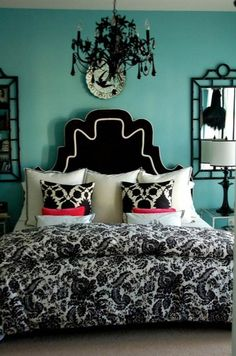 Teal Bedroom Walls on Pinterest
