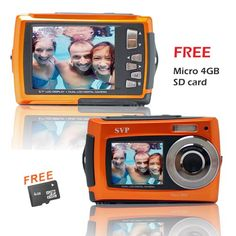Dual Screen 18MP Aqua5800 Orange (with Micro4GB) Waterproof Camera and more   Waterproof Camera product  at http://pinterest.com/sulias/waterproof-cameras/