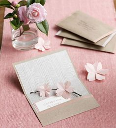 Invite with Paper Flowers