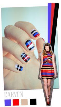 CARVEN  inspiration  #Nail Art Designs #nail art / #nail style / #nail design / #tırnak / #nagel / #clouer / #Auswerfer / #unghie / #爪 / #指甲/ #kuku / #uñas / #नाखून / #ногти / #الأظافر / #ongles / #unhas