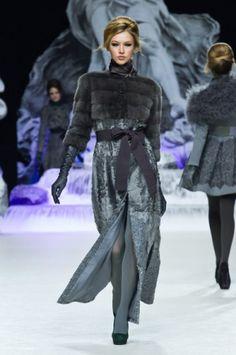 Fur coat by Igor Gulyaev  (Mink, lambskin, lace)  collection Stilosa   FW 2013-14
