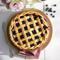 Honey-Balsamic-Blueberry Pie | MyRecipes.com