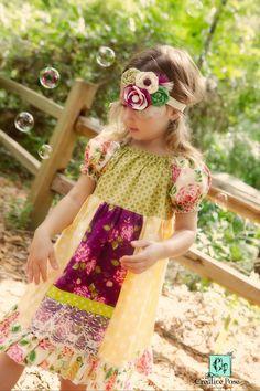 Molly's Faux Apron Peasant Dress PDF Pattern by CreateKidsCouture
