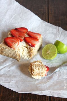 Mexican Lime Icebox Cake by 24carrotlife #Icebox_Cake #Lime