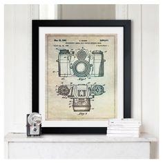 sauer camera, oliv gal, art prints, 1962, framed art, frame art, photograph camera, framed prints, cameras